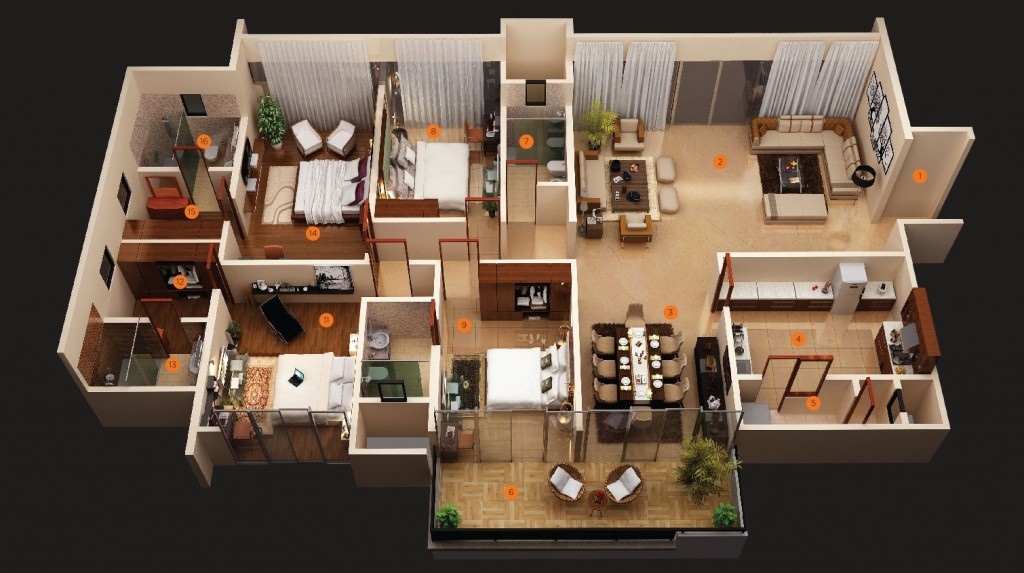 50-four-4-bedroom-apartmenthouse-plans (6)