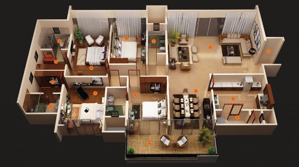50-four-4-bedroom-apartmenthouse-plans (6)
