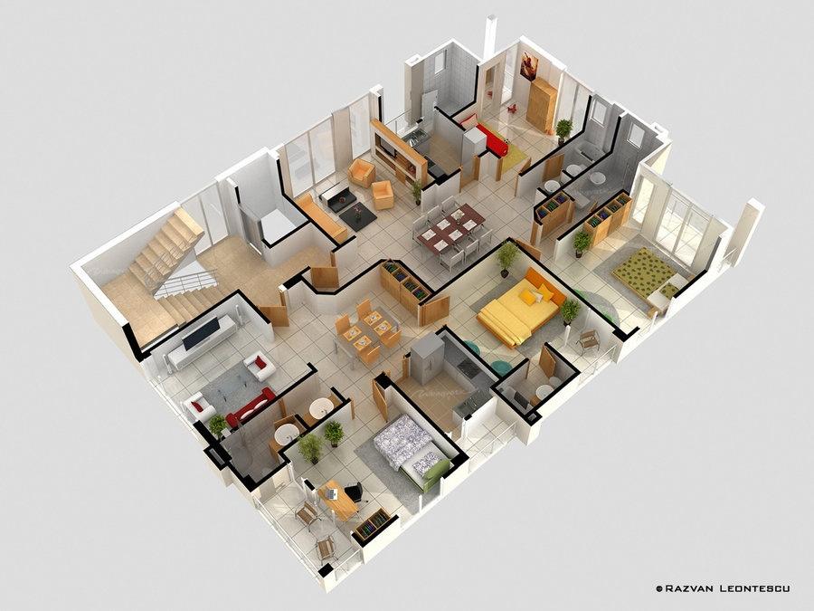 50-four-4-bedroom-apartmenthouse-plans (8)