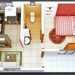 แจกฟรี!! 50 แบบแปลน บ้าน/อพาร์ทเมนต์ ขนาด 1 ห้องนอน