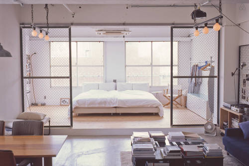 loft industrial apartment in tokyo (1)