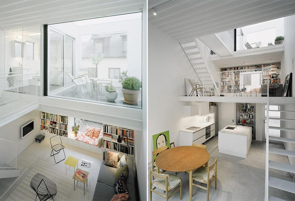 narrow three-level modern minimal house (2)