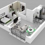 รวม 8 แบบแปลน 3D บ้าน/คอนโด สไตล์โมเดิร์น
