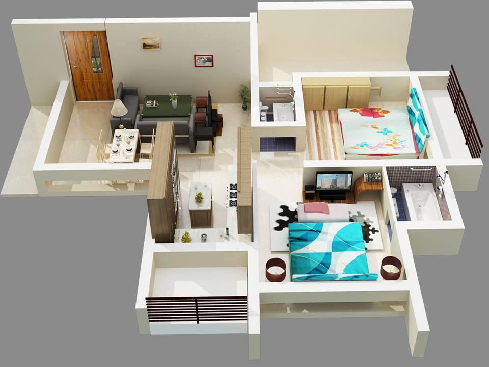8 modern 3d floor plans (6)