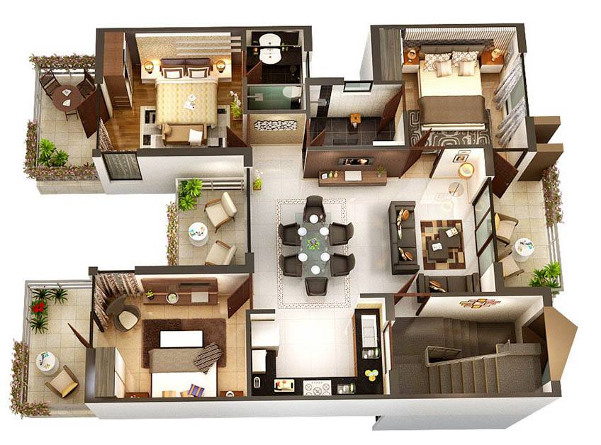8 modern 3d floor plans (7)