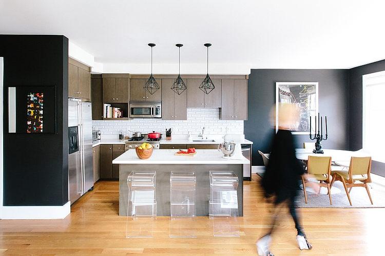 modern apartment black interior design (1)