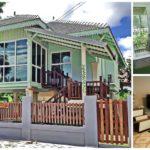 บ้านทรงใต้ถุนกลิ่นอายไทยประยุกต์ ตกแต่งโทนสีเขียว พร้อมระเบียงห้องกระจกสำหรับพักผ่อนหรือรับแขก