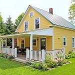 บ้านสไตล์คอทเทจ 2 ชั้น ออกแบบชานบ้านน่ารักๆ กับภายในที่เรียบง่ายลงตัว