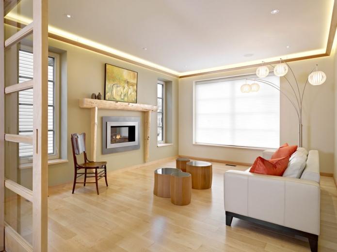 15 Living room interior designs in beige tone (10)