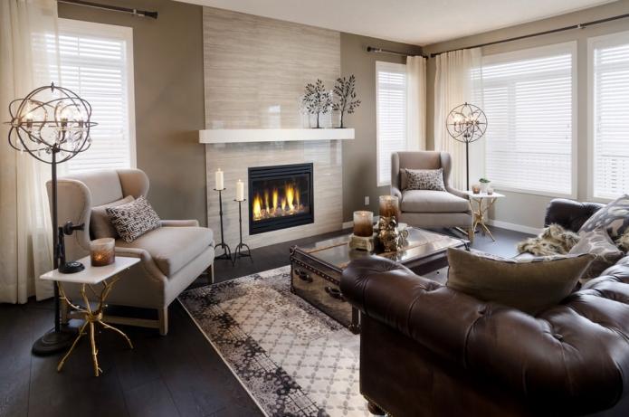 15 Living room interior designs in beige tone (12)