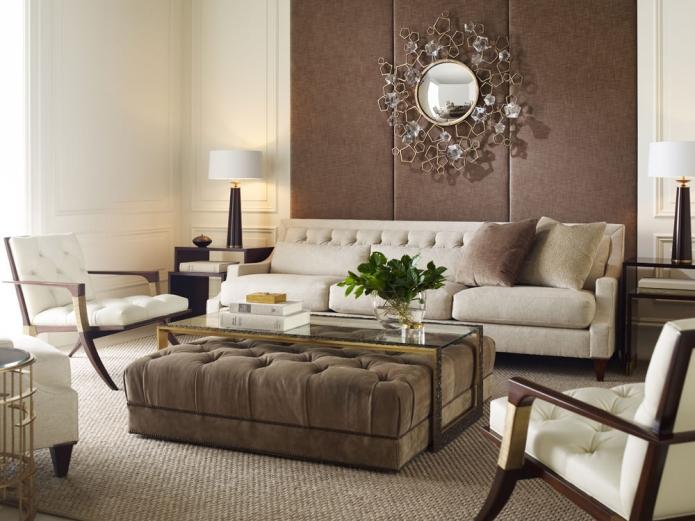 15 Living room interior designs in beige tone (13)