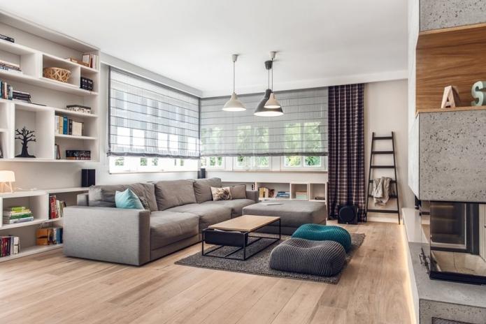 15 Living room interior designs in beige tone (17)