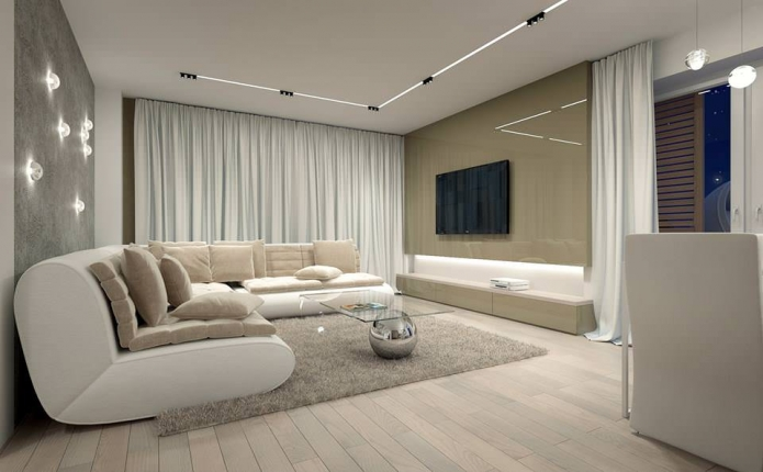 15 Living room interior designs in beige tone (2)