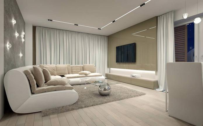 15 Living room interior designs in beige tone (2)