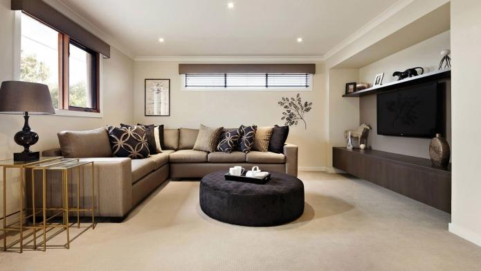 15 Living room interior designs in beige tone (4)