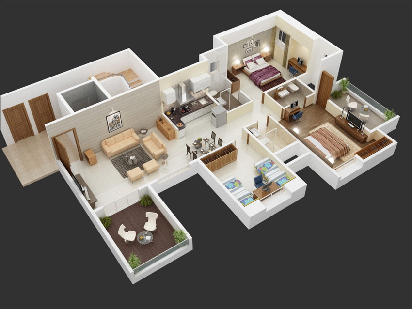 25-more-3-bedroom-3d-floor-plans (1)