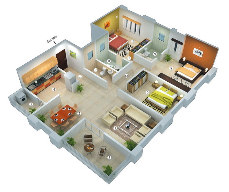 25-more-3-bedroom-3d-floor-plans (10)