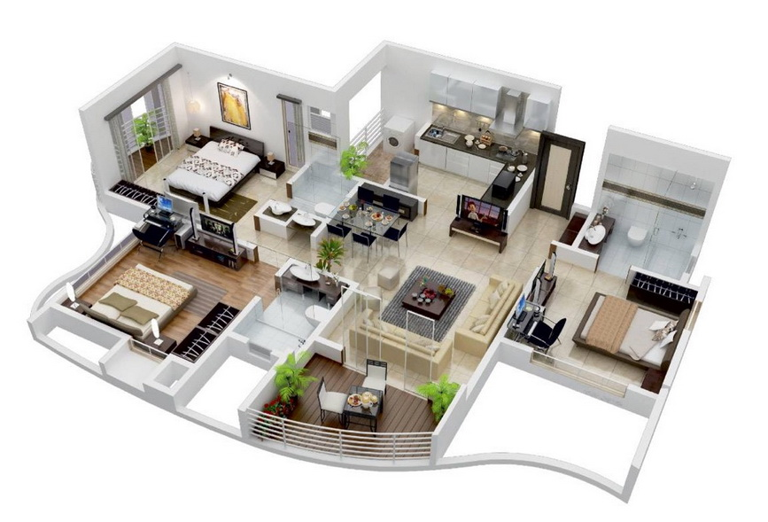 25-more-3-bedroom-3d-floor-plans (11)
