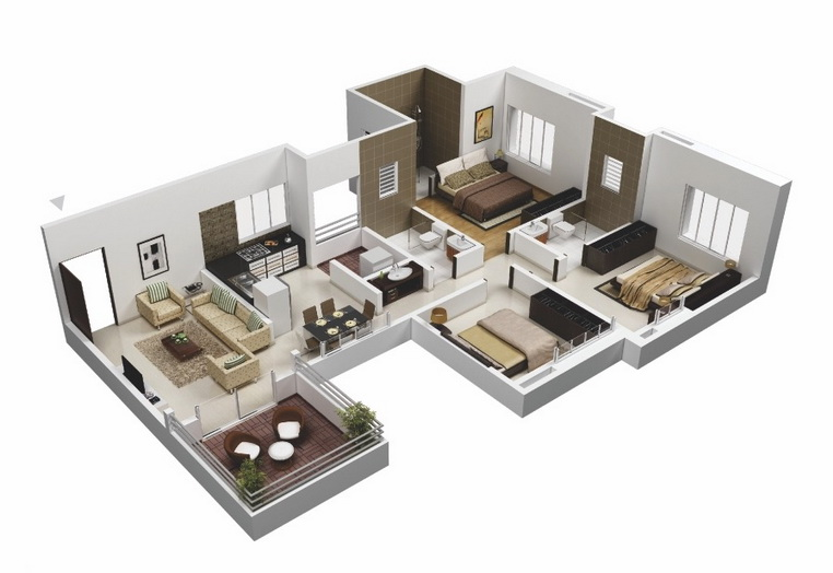 25-more-3-bedroom-3d-floor-plans (12)