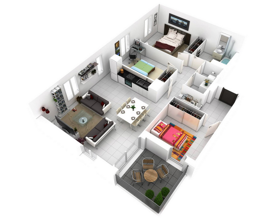 25-more-3-bedroom-3d-floor-plans (16)