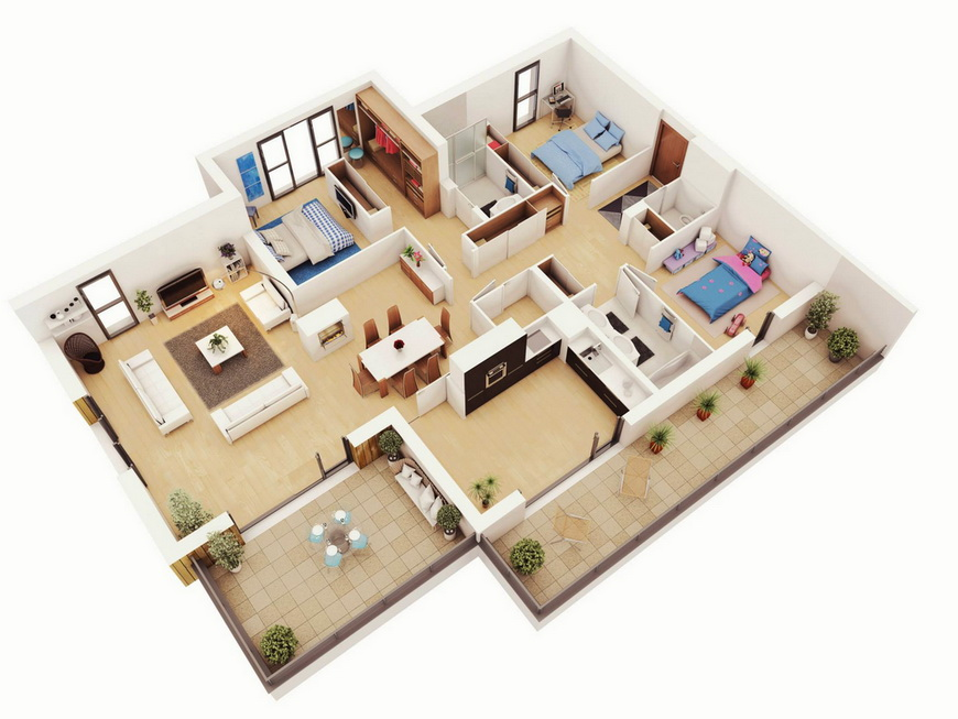 25-more-3-bedroom-3d-floor-plans (18)