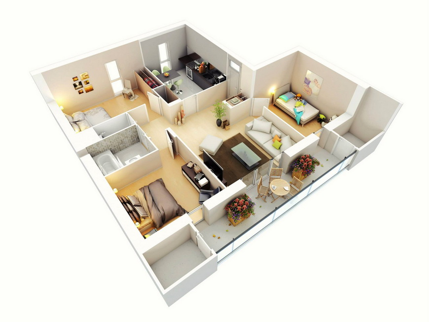 25-more-3-bedroom-3d-floor-plans (19)
