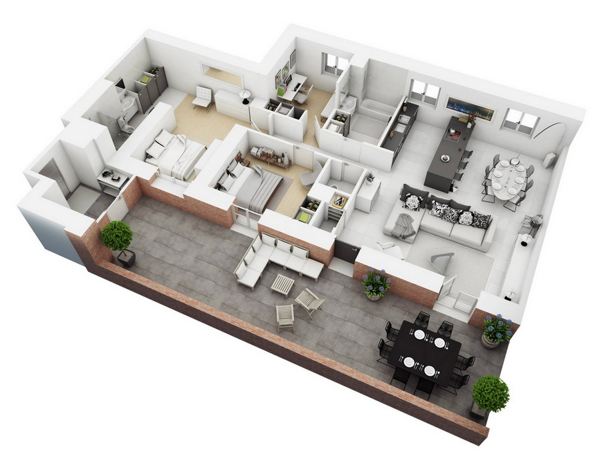 25-more-3-bedroom-3d-floor-plans (22)