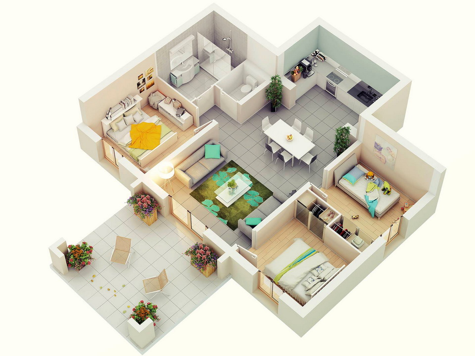 25-more-3-bedroom-3d-floor-plans (24)