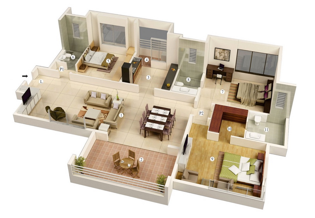 25-more-3-bedroom-3d-floor-plans (5)