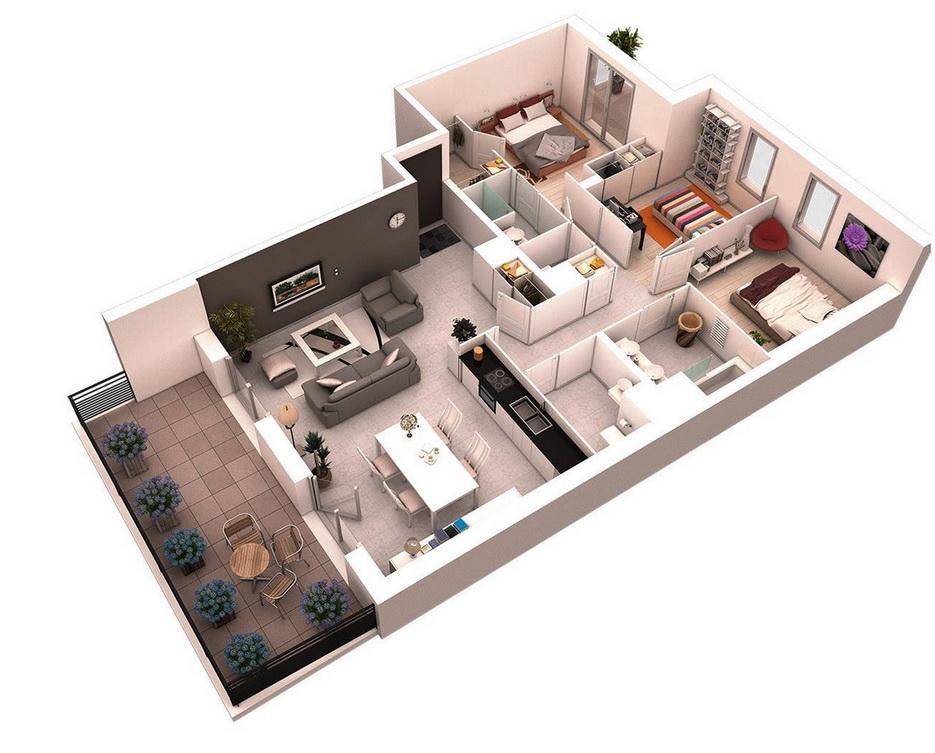 25-more-3-bedroom-3d-floor-plans (6)