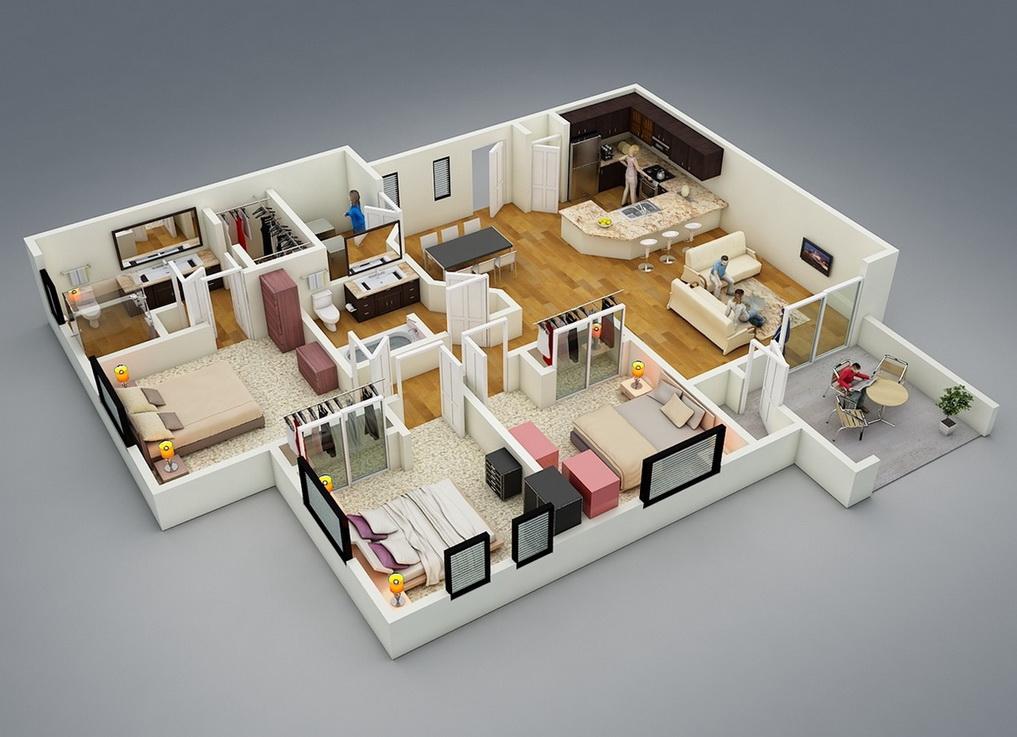 25-more-3-bedroom-3d-floor-plans (7)