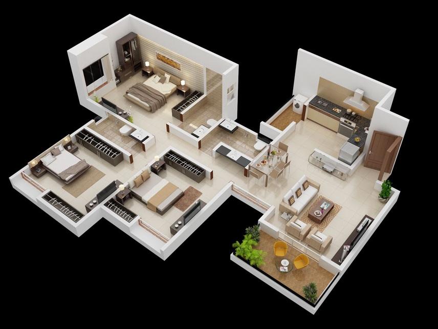 25-more-3-bedroom-3d-floor-plans (8)
