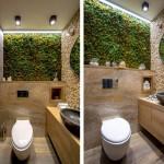 ออกแบบห้องน้ำขนาดเล็กในสไตล์เอิร์ธโทน เหมาะสำหรับร้านค้า/ร้านอาหาร