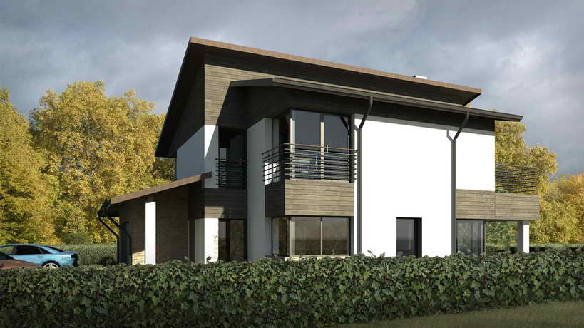 2 storied modern house with extraordinary exteior (2)