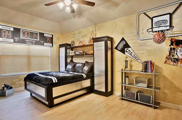 20 basketball theme bedroom ideas (1)