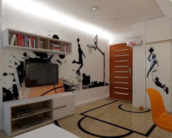 20 basketball theme bedroom ideas (10)
