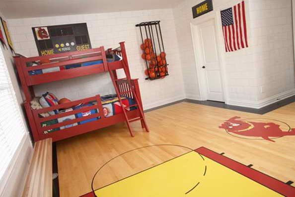 20 basketball theme bedroom ideas (14)