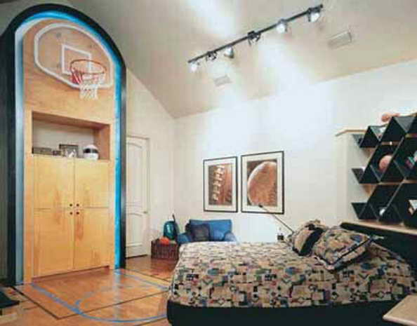20 basketball theme bedroom ideas (20)