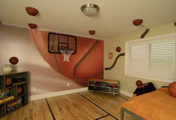 20 basketball theme bedroom ideas (3)