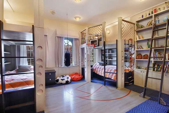 20 basketball theme bedroom ideas (6)