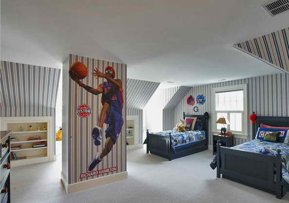 20 basketball theme bedroom ideas (8)