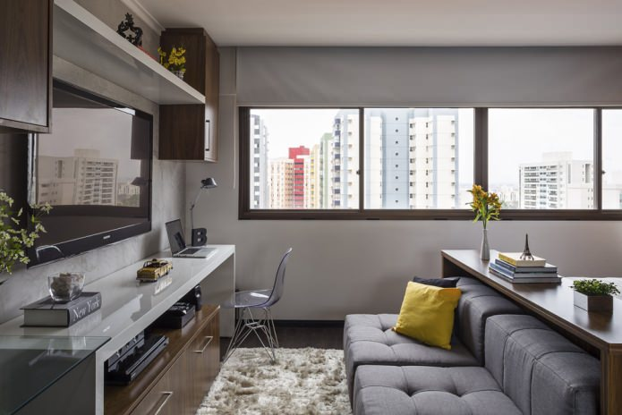 concrete wooden furnished 30 sq mts  apartment (2)