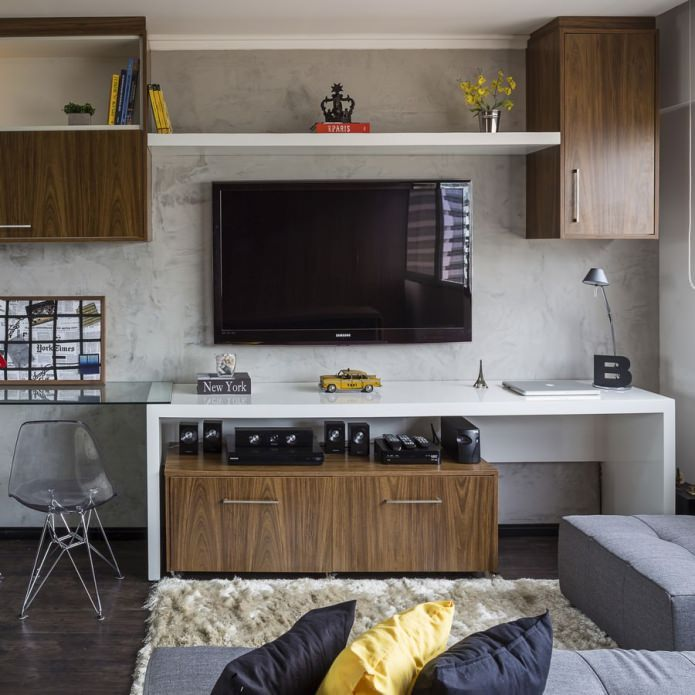 concrete wooden furnished 30 sq mts  apartment (4)