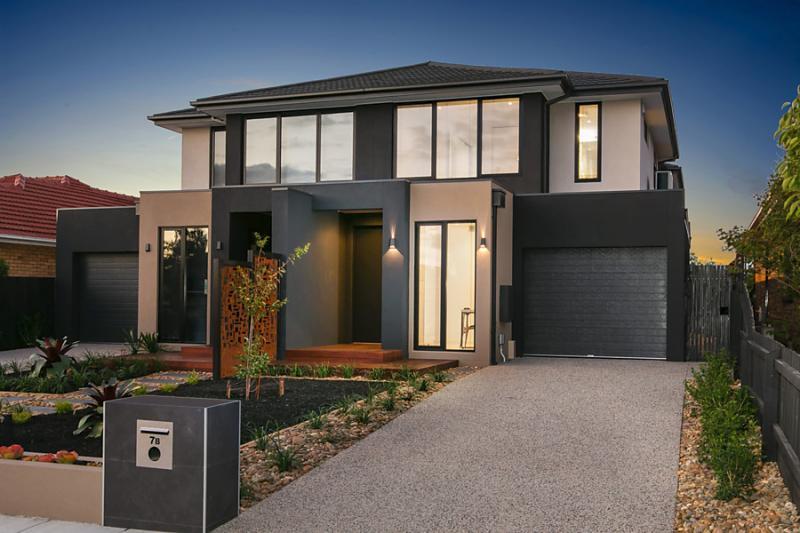 elegant narrow facade modern house (1)
