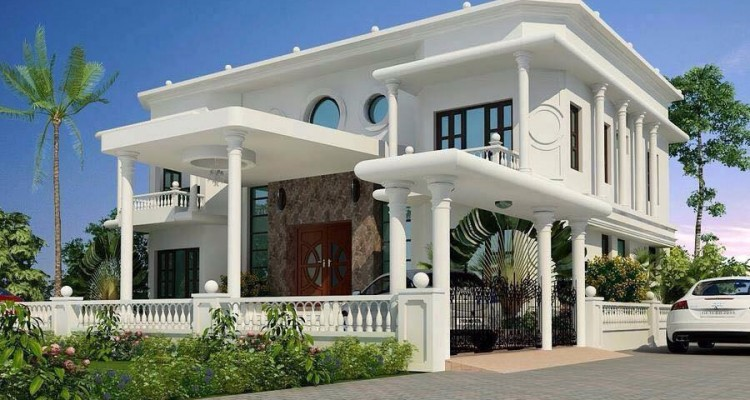BREATHTAKING ELEGANT WHITE HOUSE WITH CLASSIC INTERIOR (1)