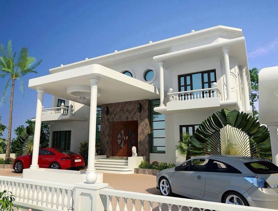 BREATHTAKING ELEGANT WHITE HOUSE WITH CLASSIC INTERIOR (2)