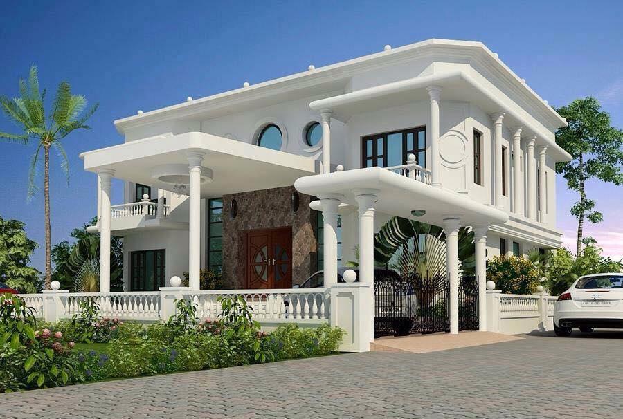 BREATHTAKING ELEGANT WHITE HOUSE WITH CLASSIC INTERIOR (3)