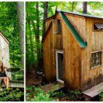 """หนุ่มมะกันวัย 27 สร้าง """"บ้านต้นไม้ในป่า"""" อาศัยอยู่กับคนรัก ใช้เวลาก่อสร้าง 6 สัปดาห์ กับงบประมาณ 130,000 บาท"""