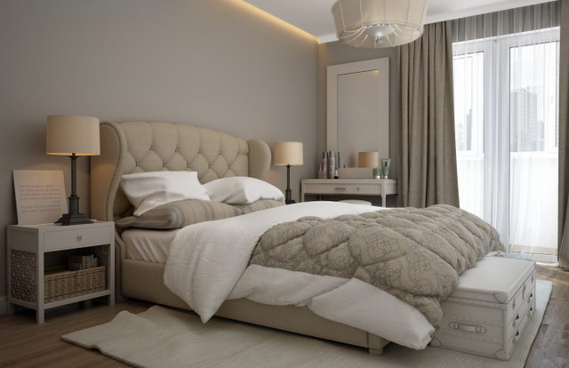 22 beige bedroom ideas to maximize coziness (6)
