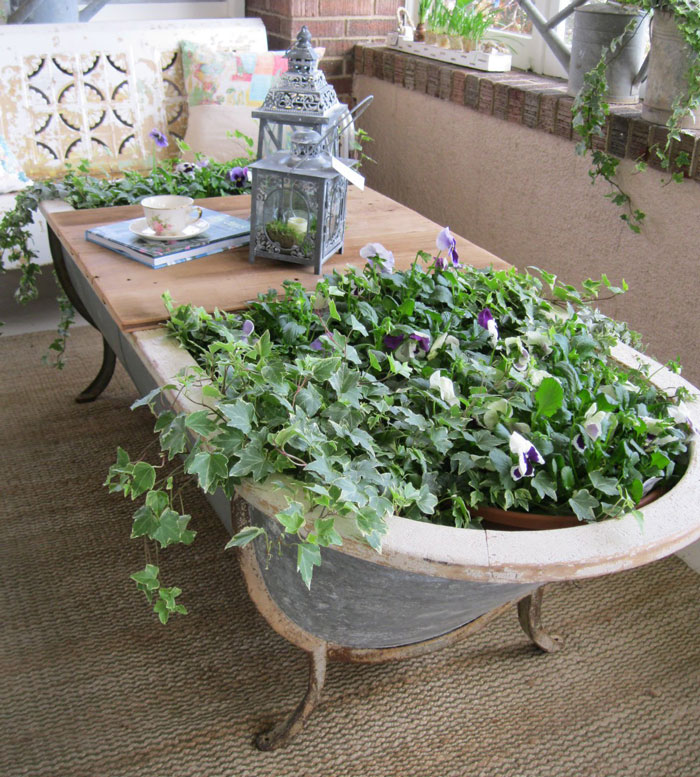 24 ideas to recycle old furniture into garden decorations (8)